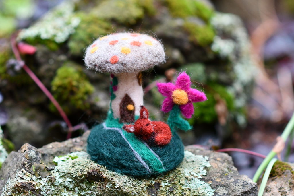 Christine Connerly, Sleeping Fox, 2018, Needle Felted Wool, $45