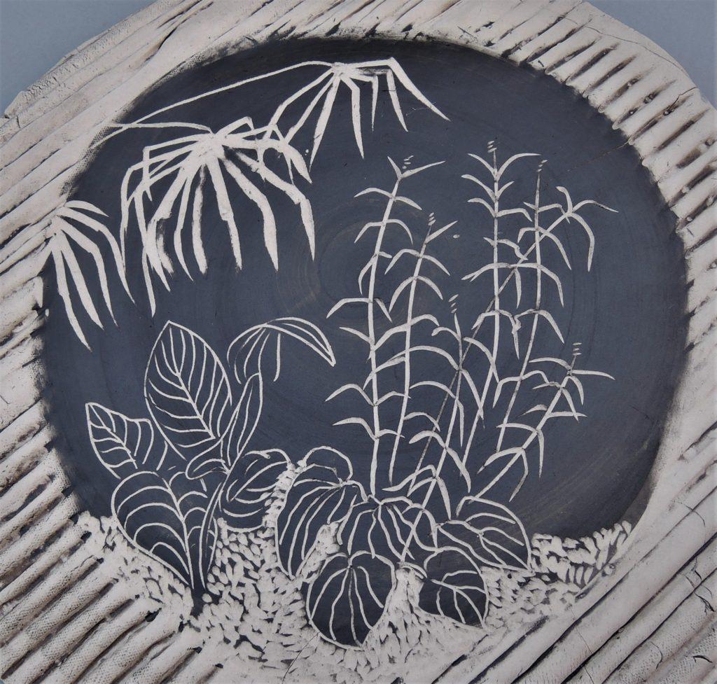 Jana Lawton, Garden Platter, 2018, porcelain, 8 inches, $95