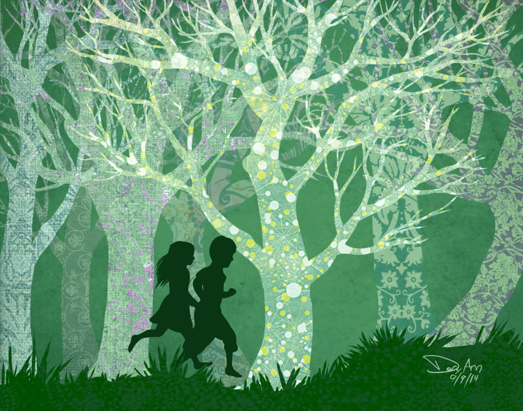 "Dory Schachner, ""The Memory of Trees"", 2014, digital painting, multiple sizes available, $25-150"