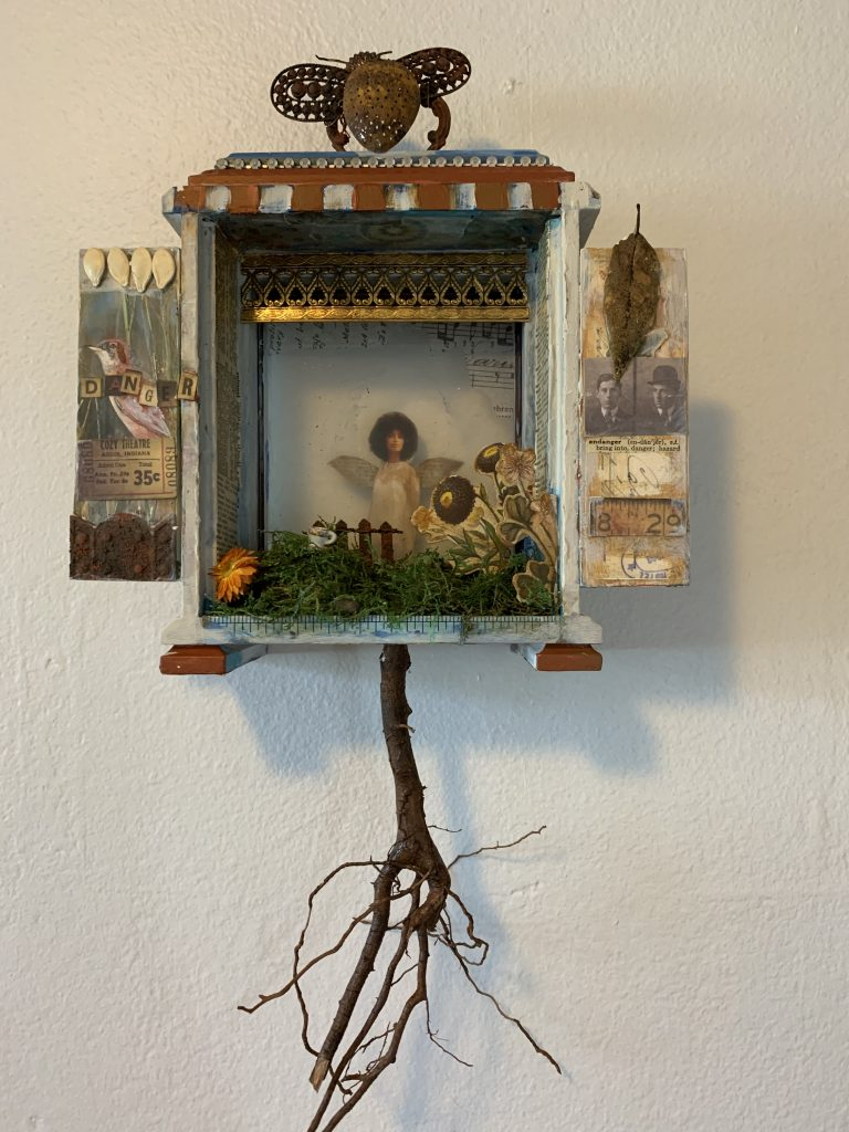 Patti Lloyd (California), Deep Roots, 2020, mixed media, $150