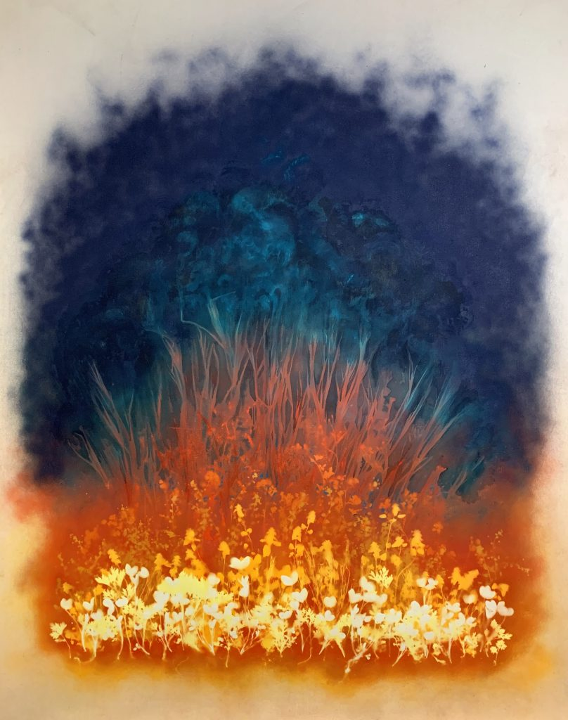 Julie Nagle (New Jersey), Blaze, 2019,  acrylic on canvas, 5' x 6', $7000