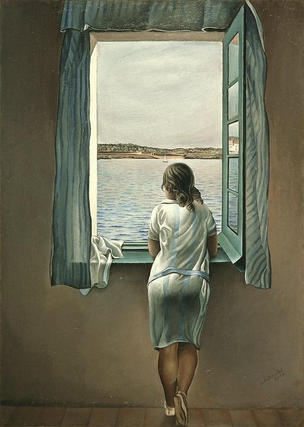 "Salvador Dali, ""Figure at a Window"", 1925, oil on paper"