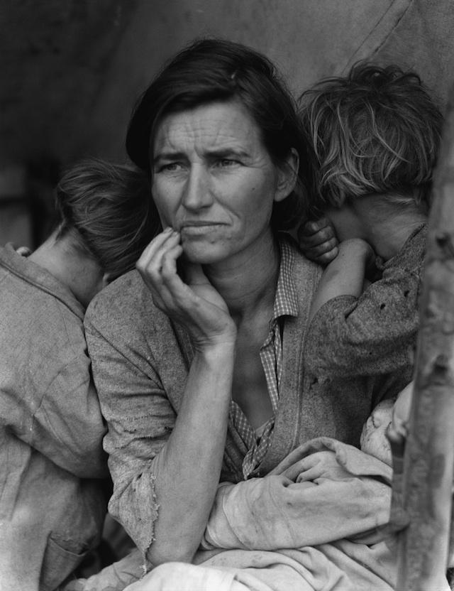 "Dorothea Lange, ""Migrant Mother"" 1936, photo"