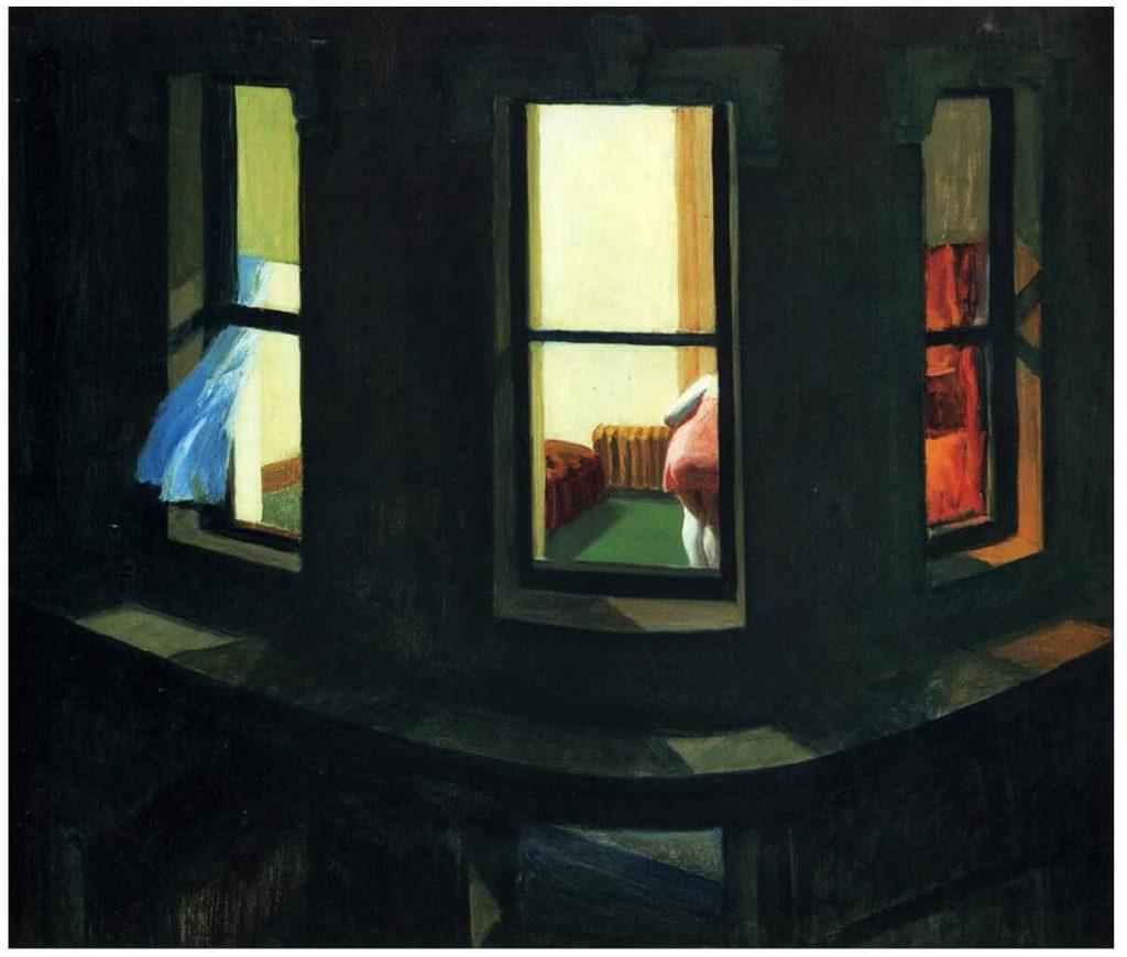 "Edward Hopper, ""Night Window"", 1928, Oil on canvas, 29 x 34"""