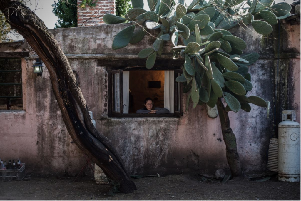 """Erica Canepa, """"A young girl looks out the window of horse wisperer Oscar Scarpati's home in Merlo, San Luis, Argentina"""", 2017, photo"""