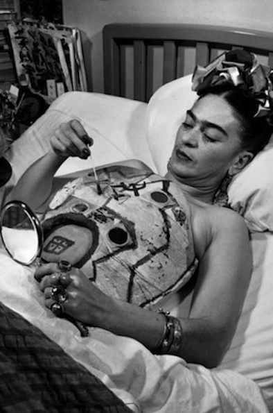 Kahlo painting one of her plaster body casts. ca. 1950. Photo by Juan Guzmán.