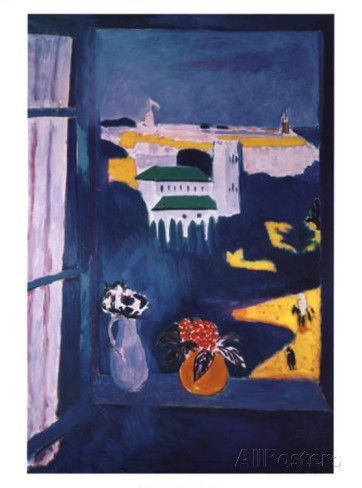 """Henri Matisse, """"Window at Tangiers"""", 1912, Oil on canvas, 45.3 in × 31.5"""""""