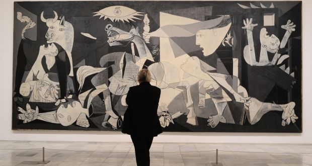 """Pablo Picasso, """"Guernica"""",  1937, Oil on canvas, 11′ 6″ x 25′ 6″"""
