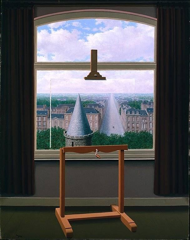 """René Magritte, """"The Promenades of Euclid"""", 1955, oil on canvas, dimensions unknown"""