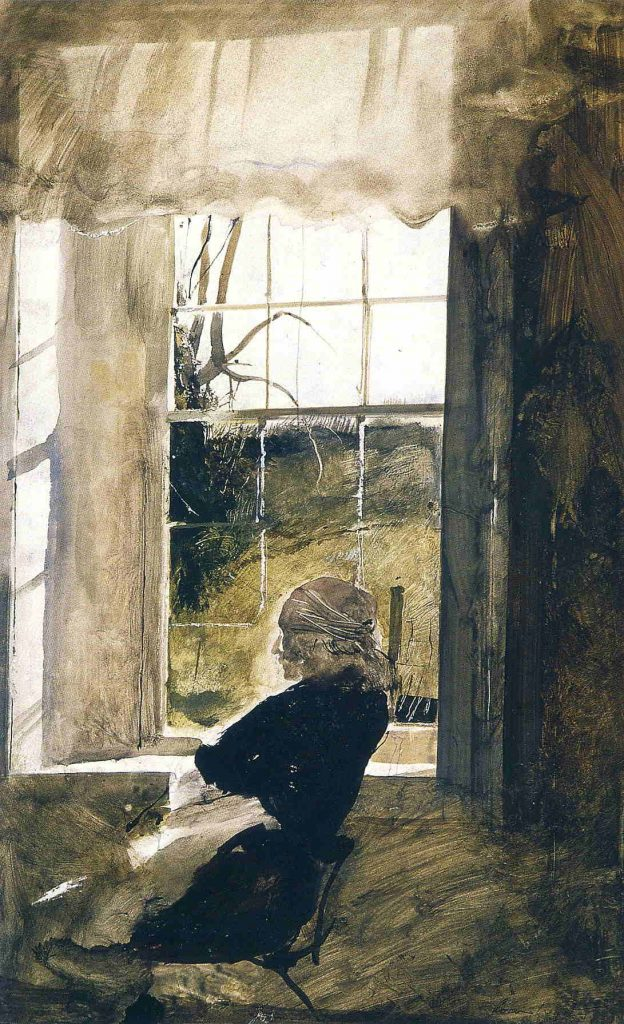 """Andrew Wyeth, """"Groundhog Day Study, 1959"""", 1959, watercolor"""