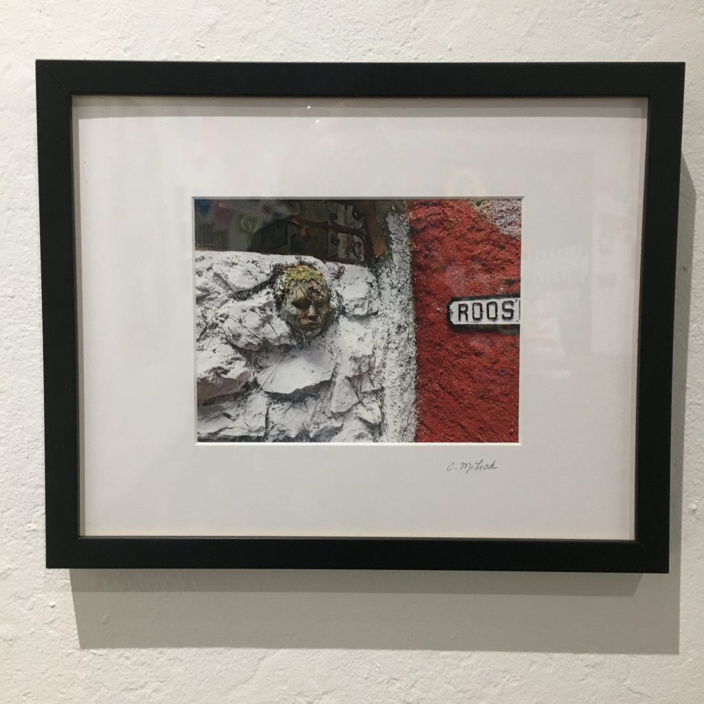 "CAROLYN MCLEOD, ""Face in the Wall"", photograph, $150."