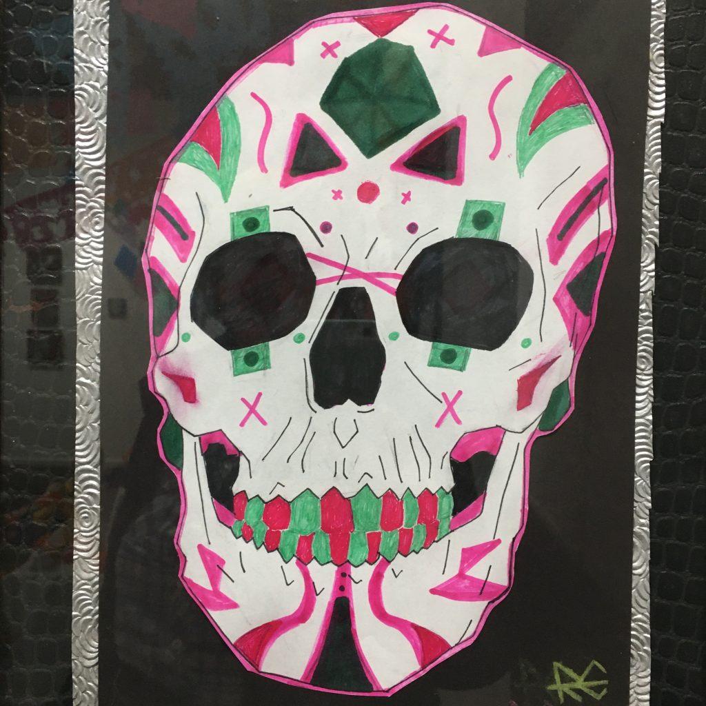 """ROBERT ELESHA, """"Rosé Muertos"""", ink, $10."""