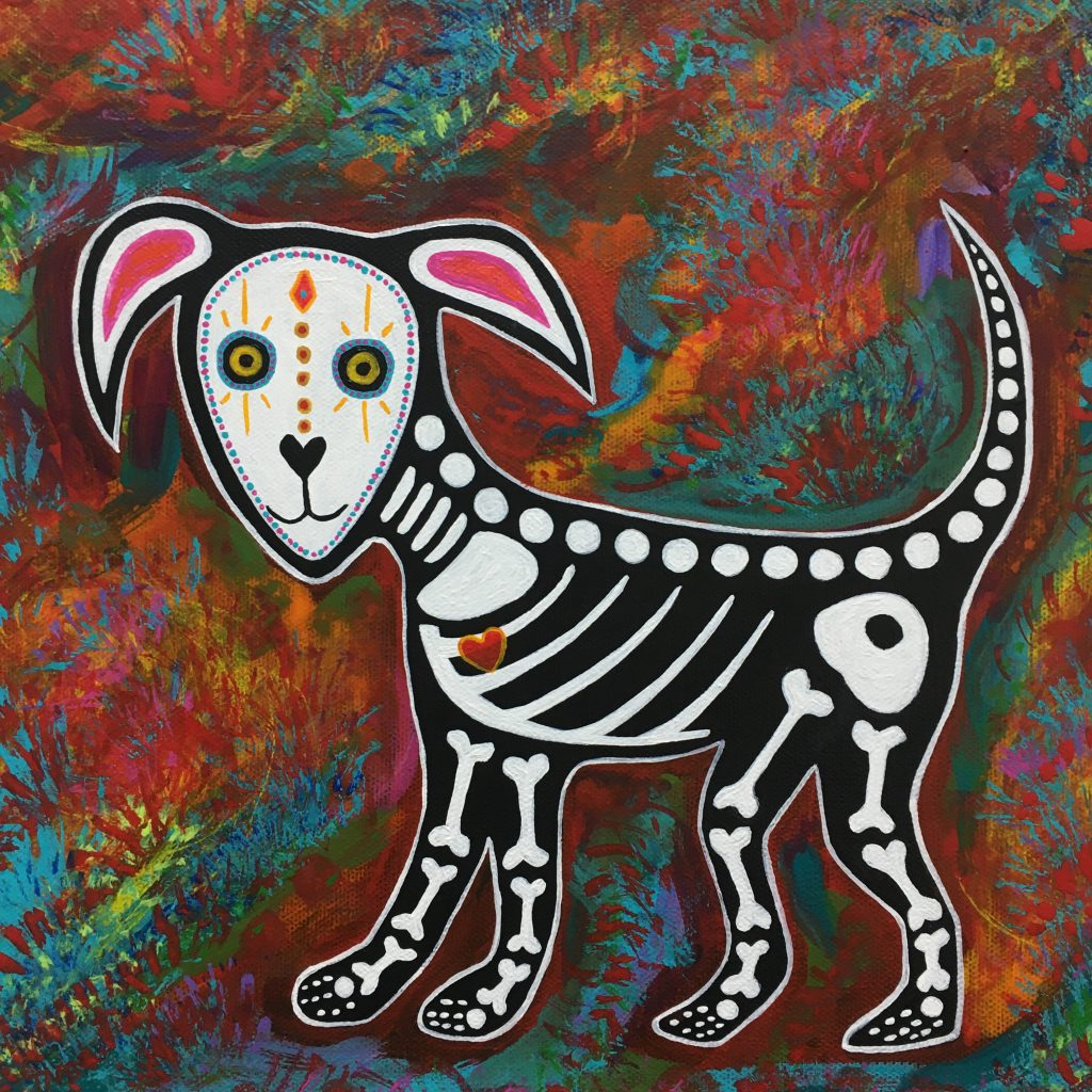 "TEAL BUEHLER,  ""Dog"", acrylic on canvas, $150."