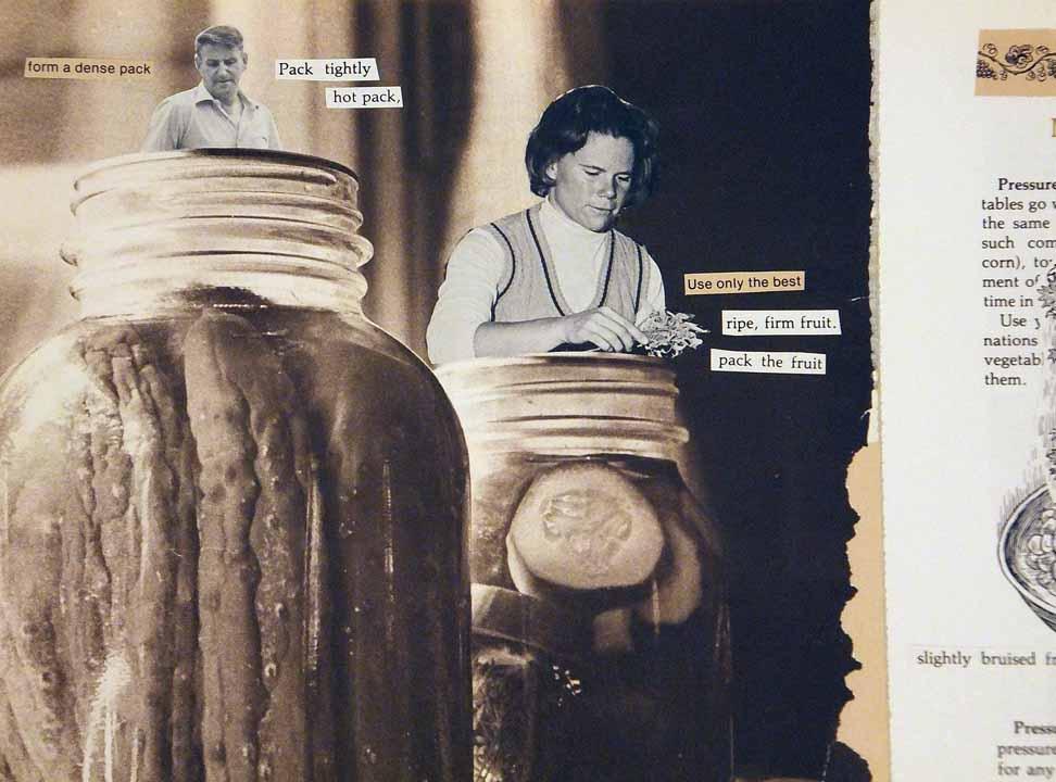 """Steven McCarthy, Keeping Sugar Pumpkin Harvest, 2016, Mixed media collage, 11x17"""" open, NFS"""