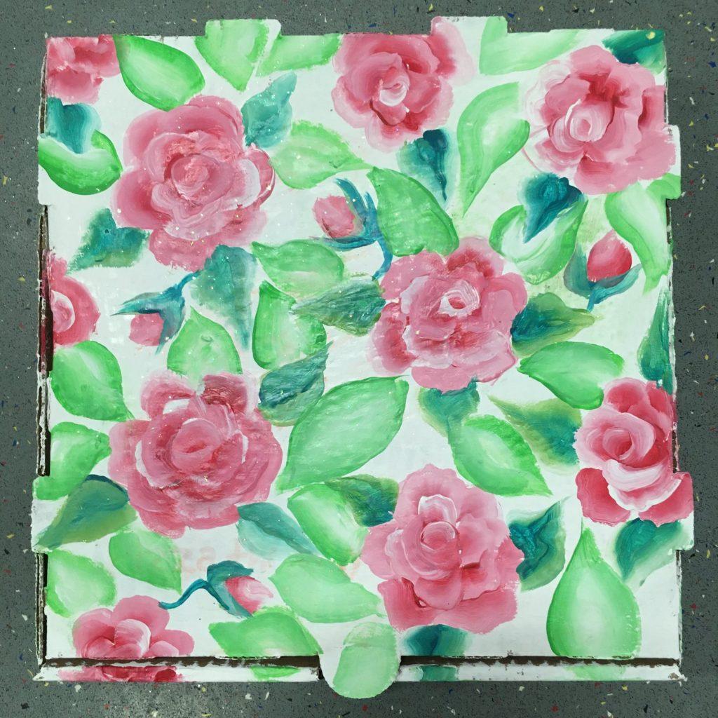 """#2 Roses"" - Acrylic and Poska Paint Pens by Nora Machado"