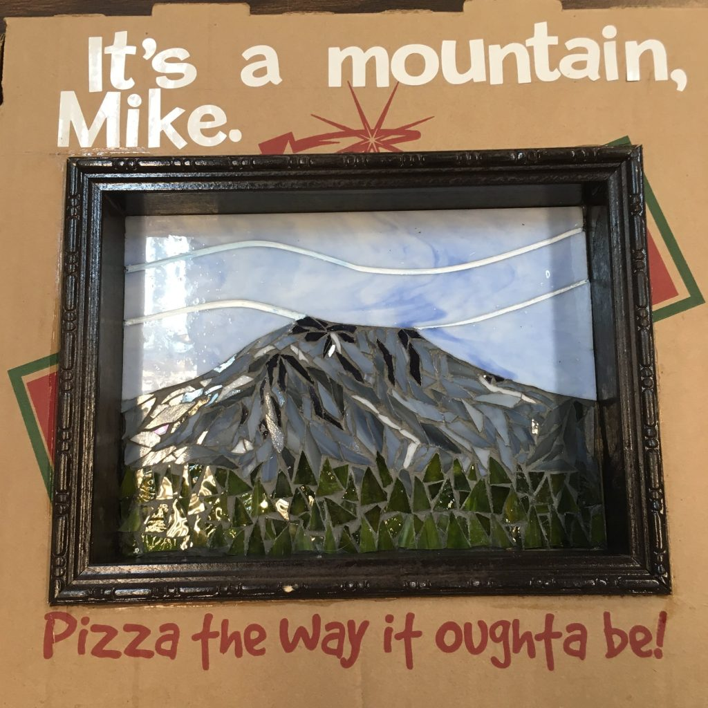 """""""It's a Mountain Mike"""" - Mosaic by Sue Warwick"""