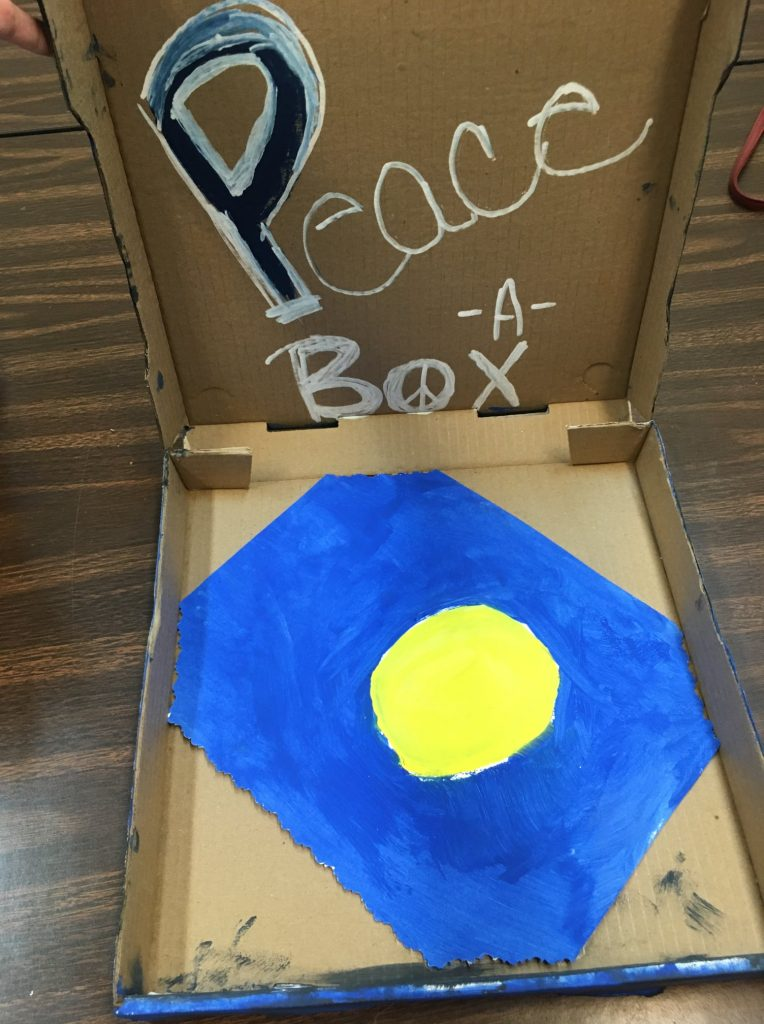 """""""Peace-A-Box"""" - (inside) Acrylic by Ashlee Griffin"""