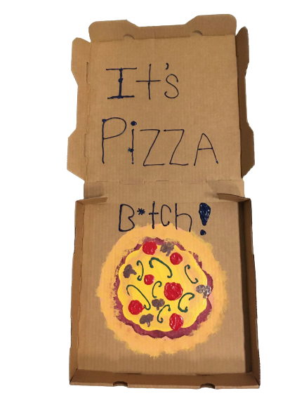 """""""It's a Pizza B*tch"""" - Acrylics by Olivia DeMaggio"""