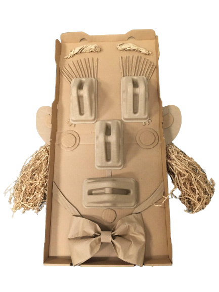 """""""Portrait: Pat King, CEO of Pat King Materials, Inc."""" - Cardboard by Julie DeMaggio (front)"""