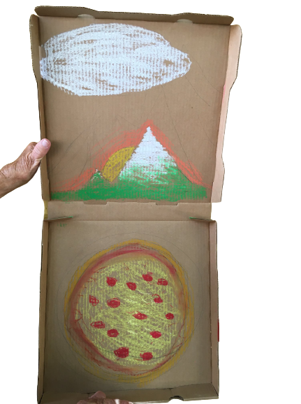 """""""Pizza Mountain"""" - Pastels by Paul Sims"""