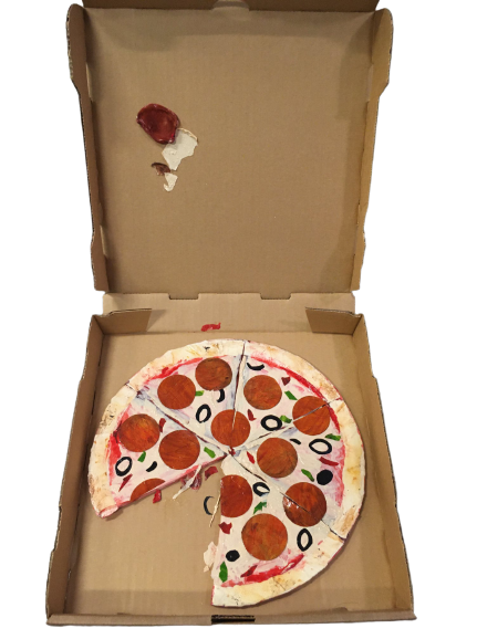 """""""Pizza for One"""" - Mixed Media by Richard Robinson"""