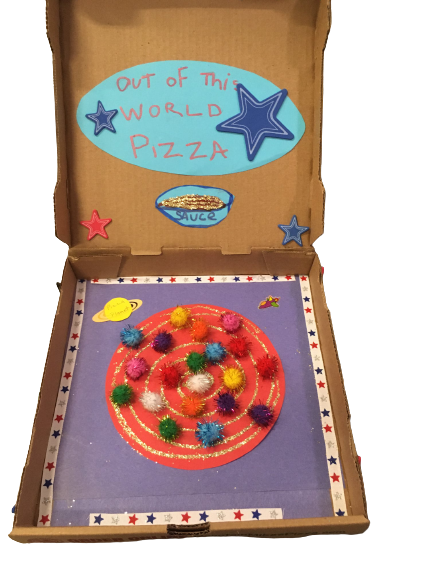 """""""The World Famous Galaxy Pizza Cafe"""" - Collage by Avett Samuels (age 5 1/2)"""