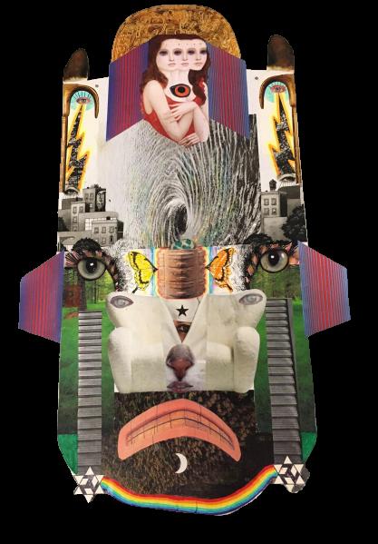 """Umbliglio Del Mundo"" Collage  by David Dragonboy Sutherland"