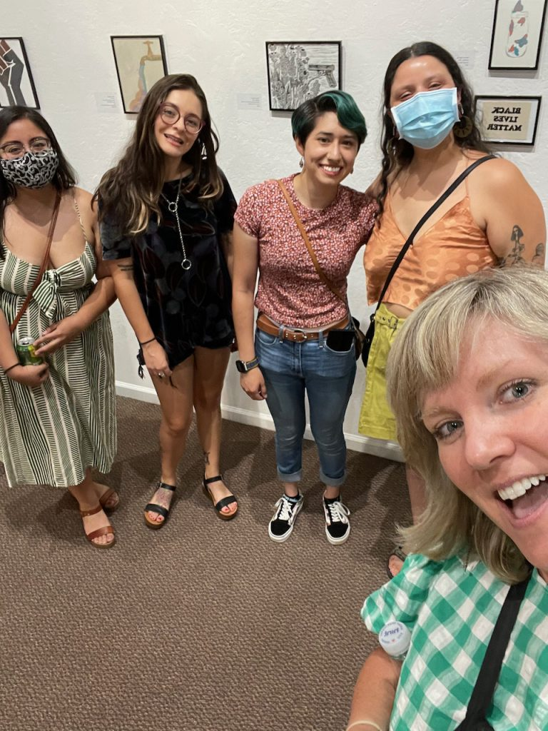 Artist Marisa Segovia and friends