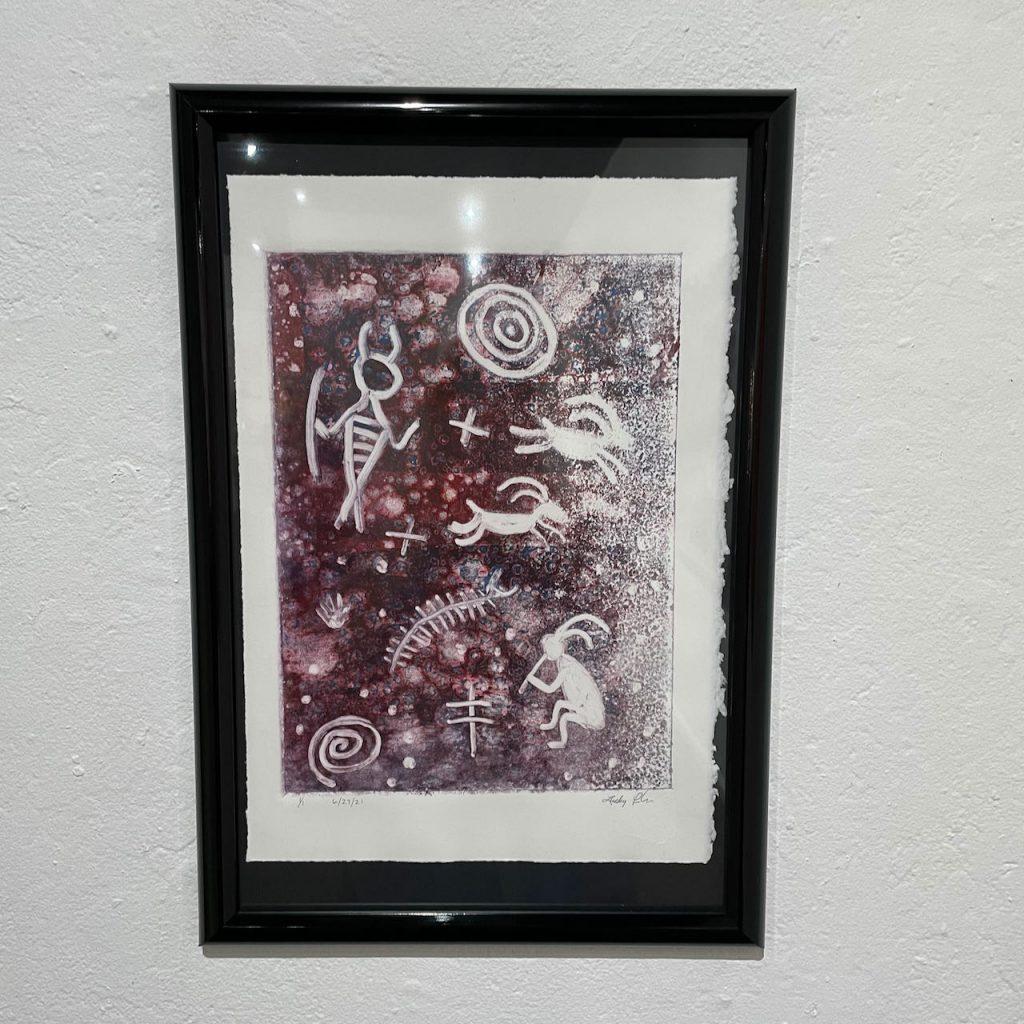 Lucky Preston, Untitled (Petroglyphs), 2021, Monoprint, Not For Sale