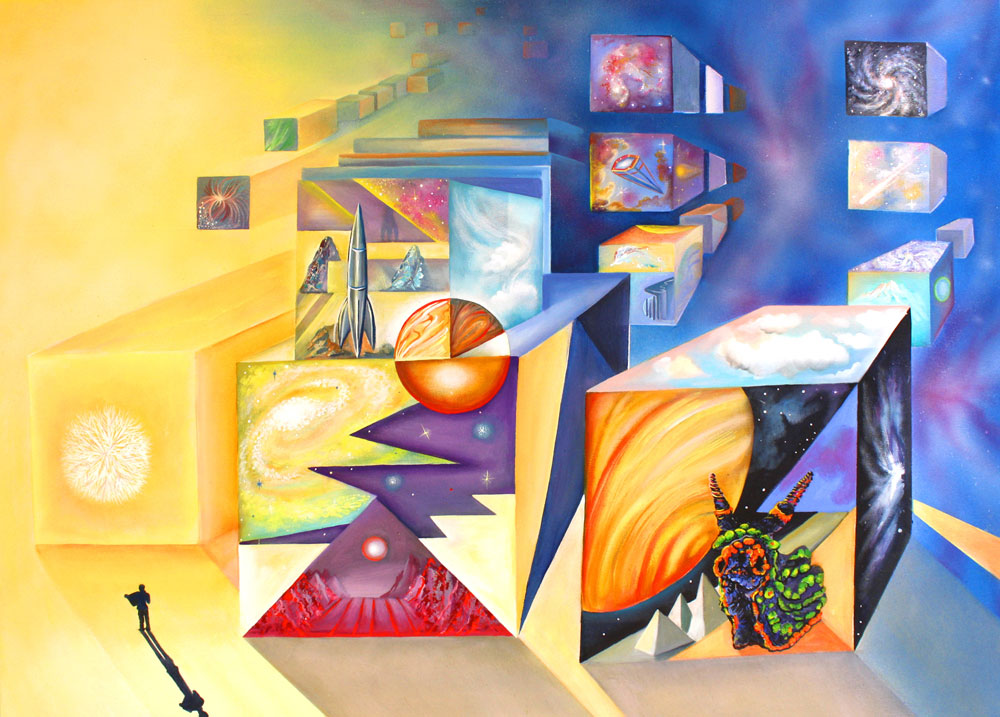 """Gary Graham, Parallel Universe, 2020 acrylic on canvas,  36"""" x 48"""""""