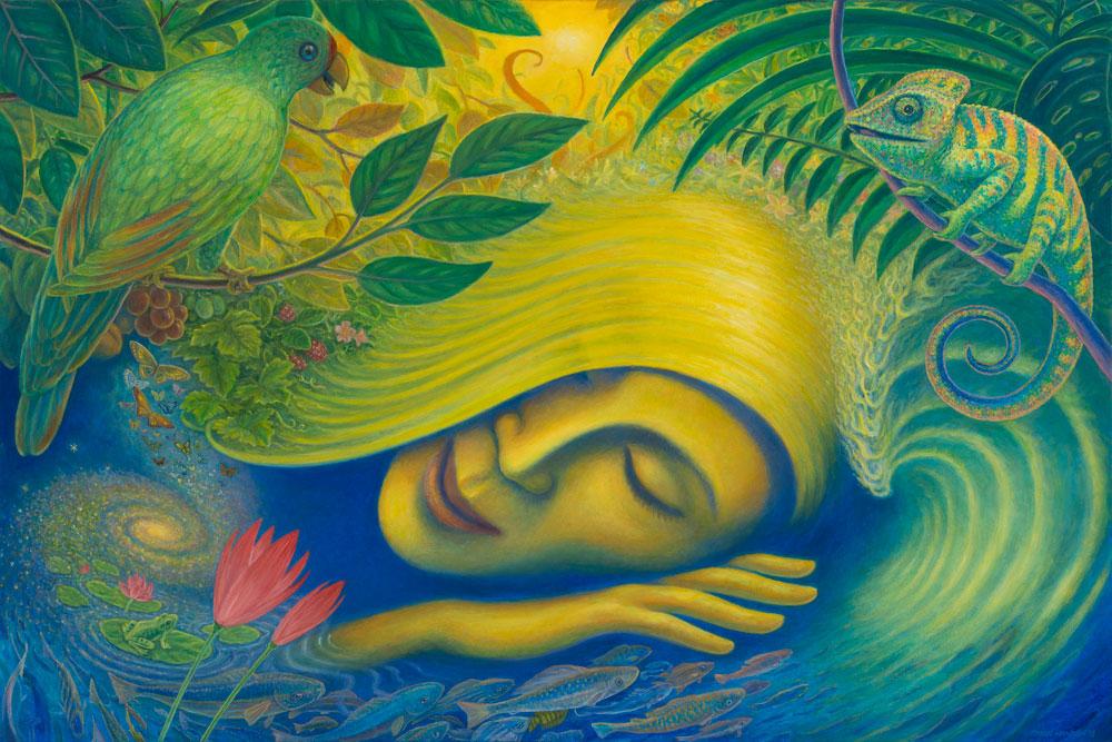 """Mark Henson, The Dreamer, 2014, oil on canvas, 24"""" x 36"""""""