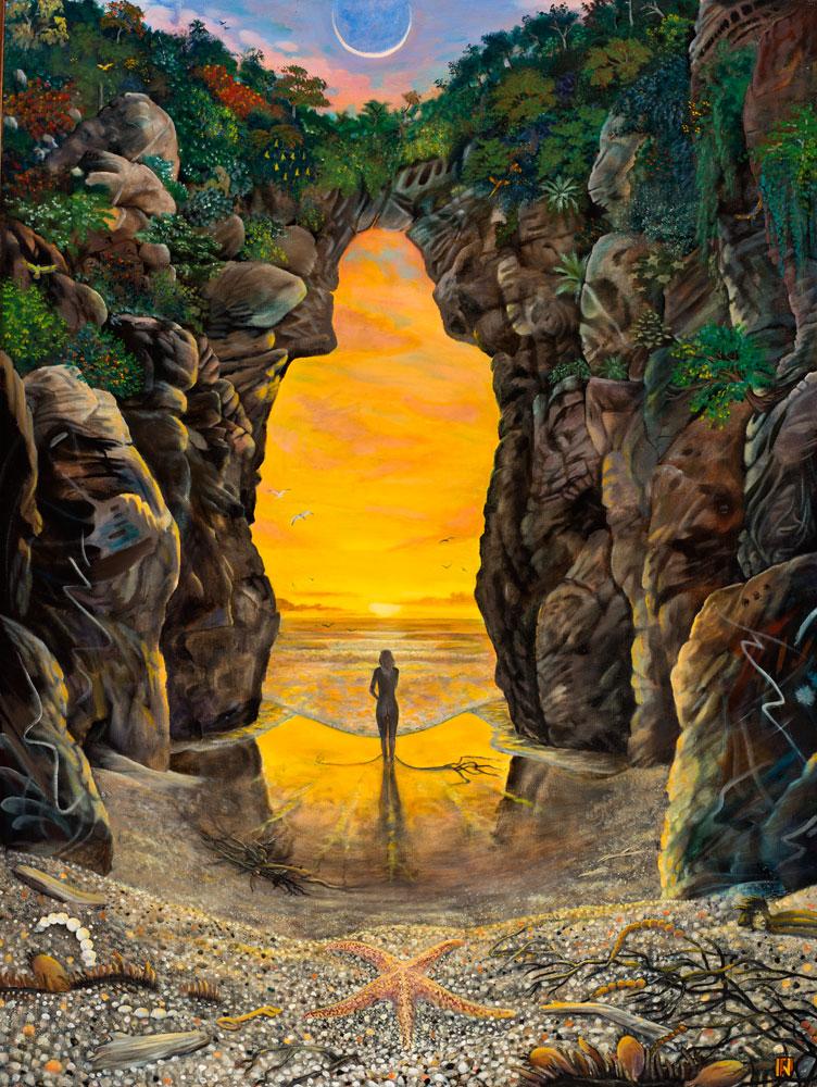 "Paul Nicholson Bodega Mystic, 1995 oil on canvas, 48"" x 36"""